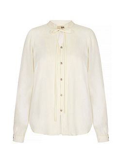 Blouse With Mandarin Collar