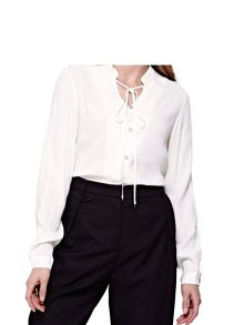 Yumi Blouse With Mandarin Collar