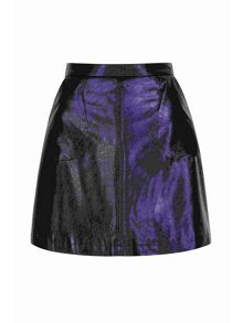 Yumi Metallic Mini Skirt