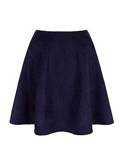 Suedette Fit & Flare Skirt