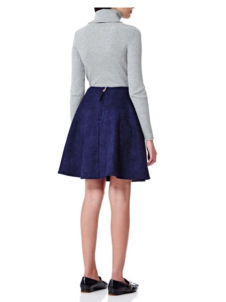 Yumi Suedette Fit & Flare Skirt