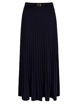 Jersey Pleat Maxi Skirt