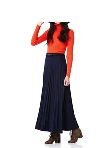 Yumi Jersey Pleat Maxi Skirt