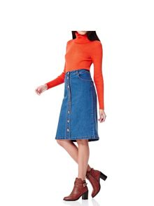 Yumi Denim Buttoned Skirt