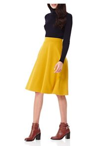 Yumi Midi Length Plain Skirt