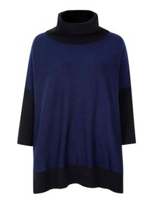 Yumi Oversized Jumper With Roll Neck