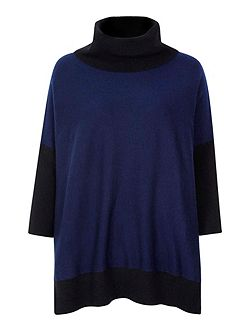 Oversized Jumper With Roll Neck