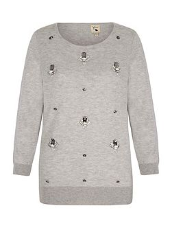 Wool Blend Jumper With Embellishment