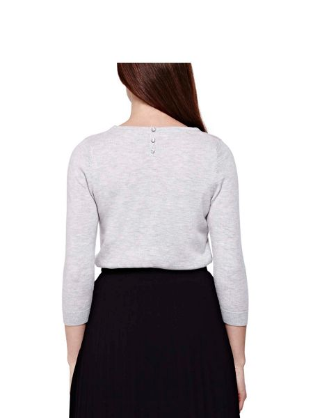 Yumi Wool Blend Jumper With Embellishment