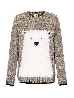 Wool Blend Polar Bear Jumper