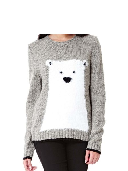 Yumi Wool Blend Polar Bear Jumper
