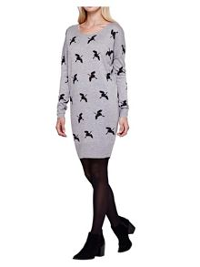 Yumi Crane Printed Tunic Jumper Dress