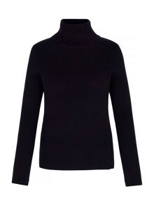 Yumi Rib Roll Neck Jumper