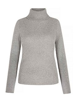 Rib Roll Neck Jumper