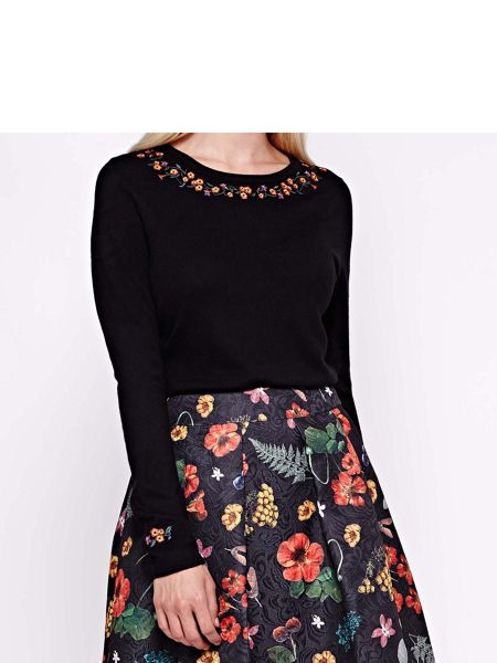 Yumi Jumper With Floral Embroidery