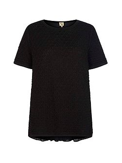 Textured Short Sleeved Jumper