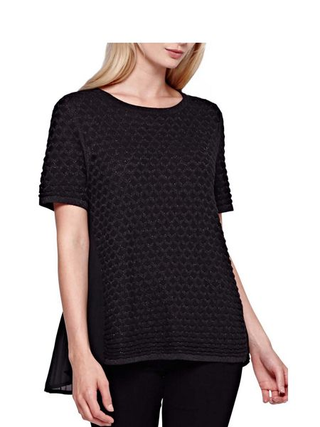 Yumi Textured Short Sleeved Jumper