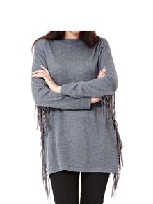 Yumi Batwing Jumper With Tassels
