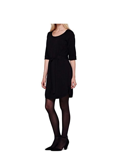 Yumi Tunic Knit Dress With Belt