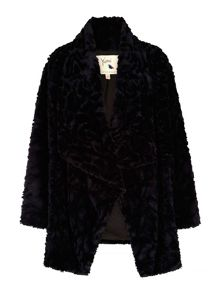 Yumi Faux Fur Waterfall Coat