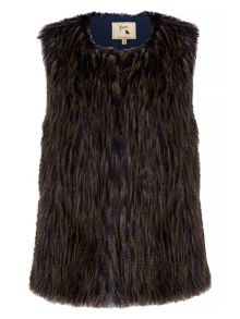 Yumi Two Toned Faux Fur Gilet