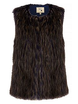 Two Toned Faux Fur Gilet
