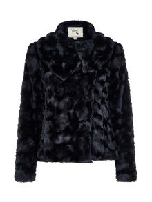 Yumi Fluffy Faux Fur Jacket