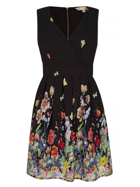 Yumi Floral and Butterfly Skater Dress