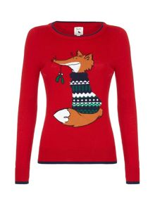 Yumi Sequin Fox Jumper
