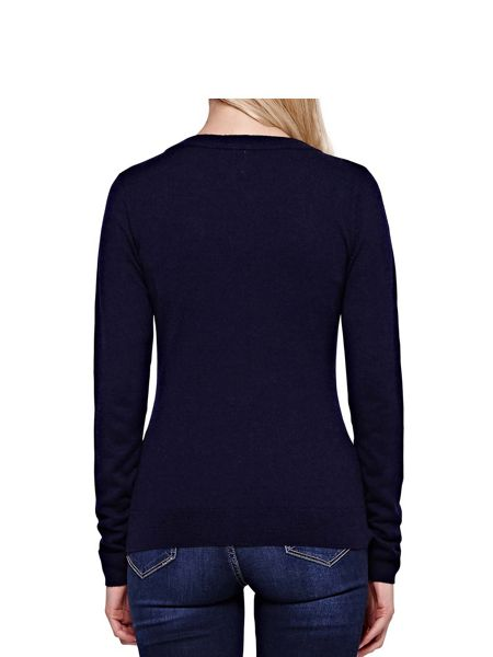 Yumi Robin Knit Jumper With Embellishments