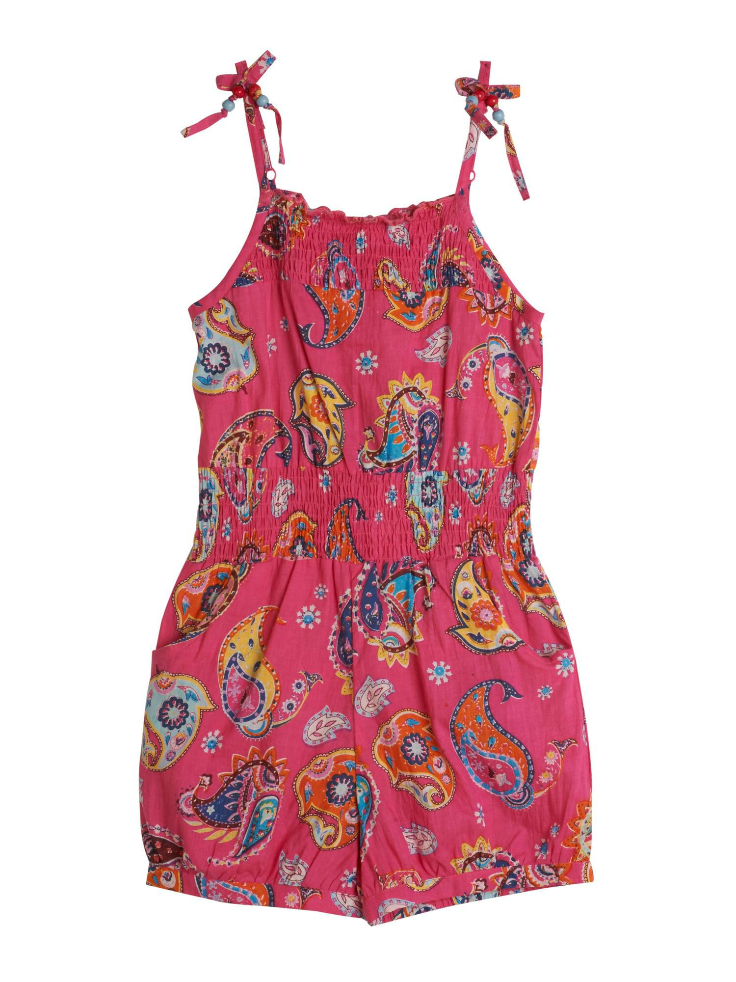 Girl`s Paisley Print Playsuit