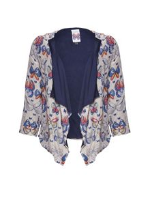 Tribal butterfly print jacket