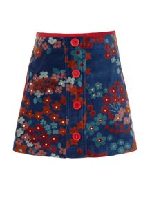 Girl`s button front skirt
