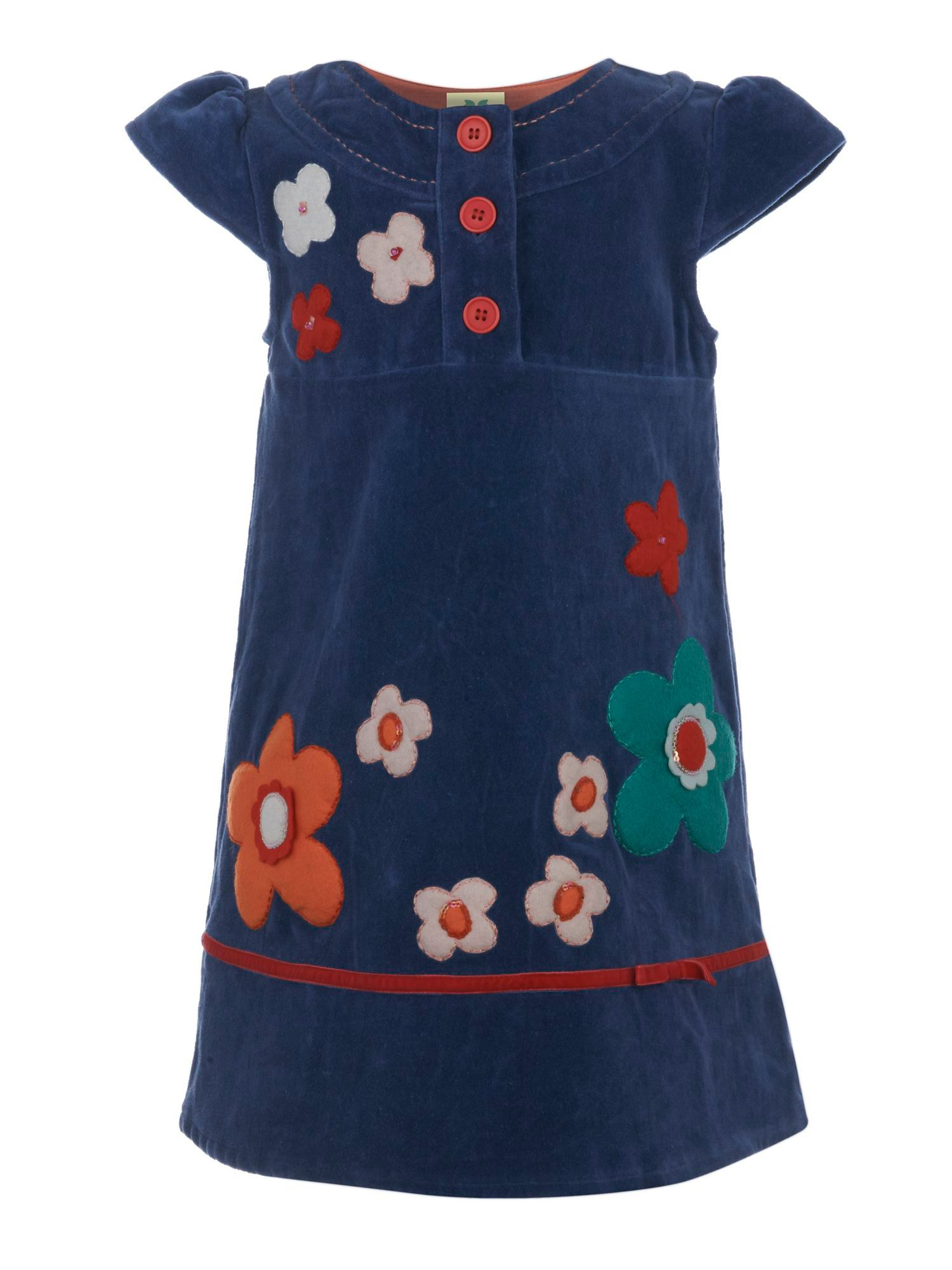 Girl`s embroidered flower dress