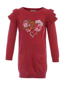 Girl`s rose jumper