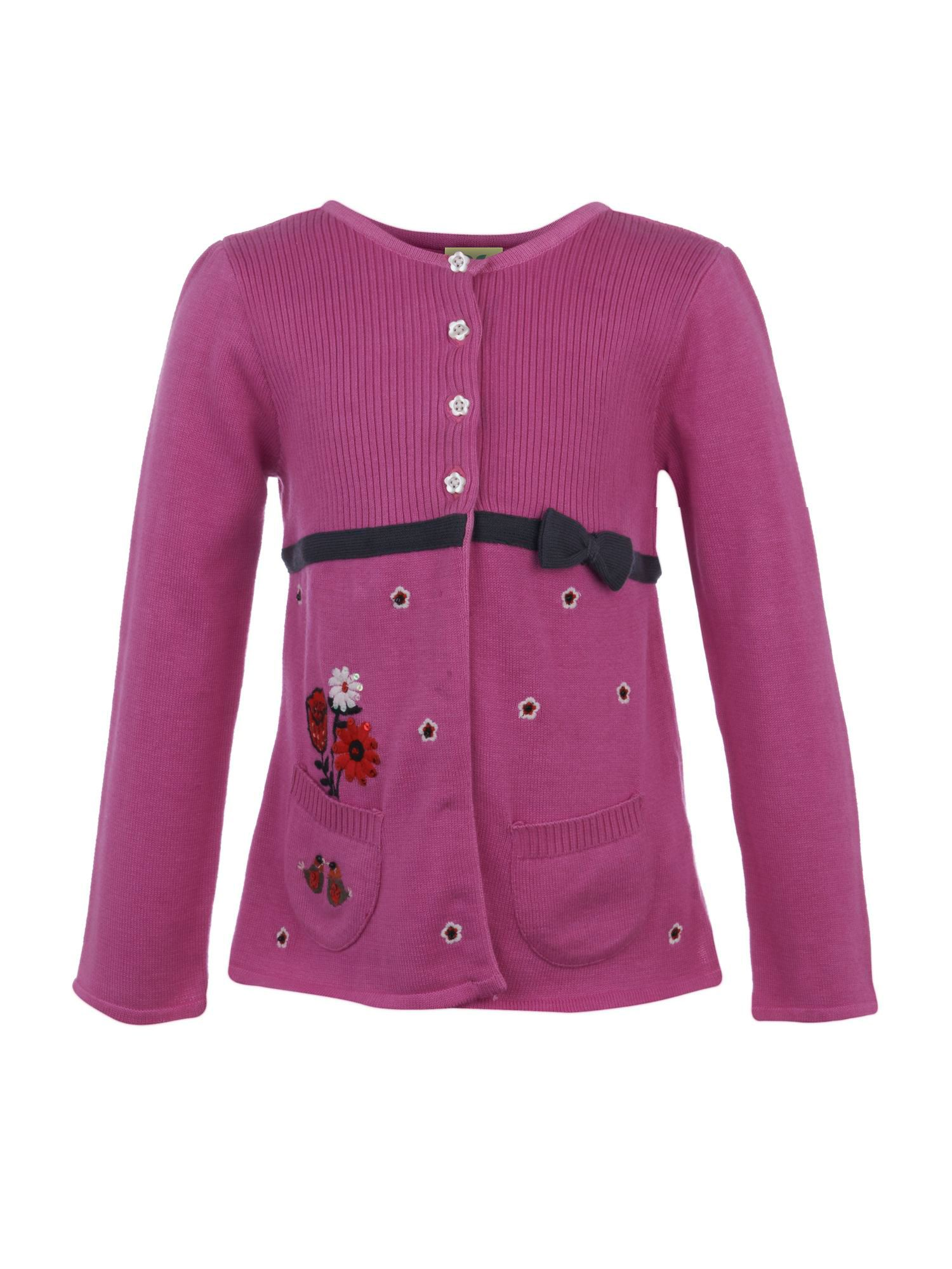 Girl`s daisy cardigan