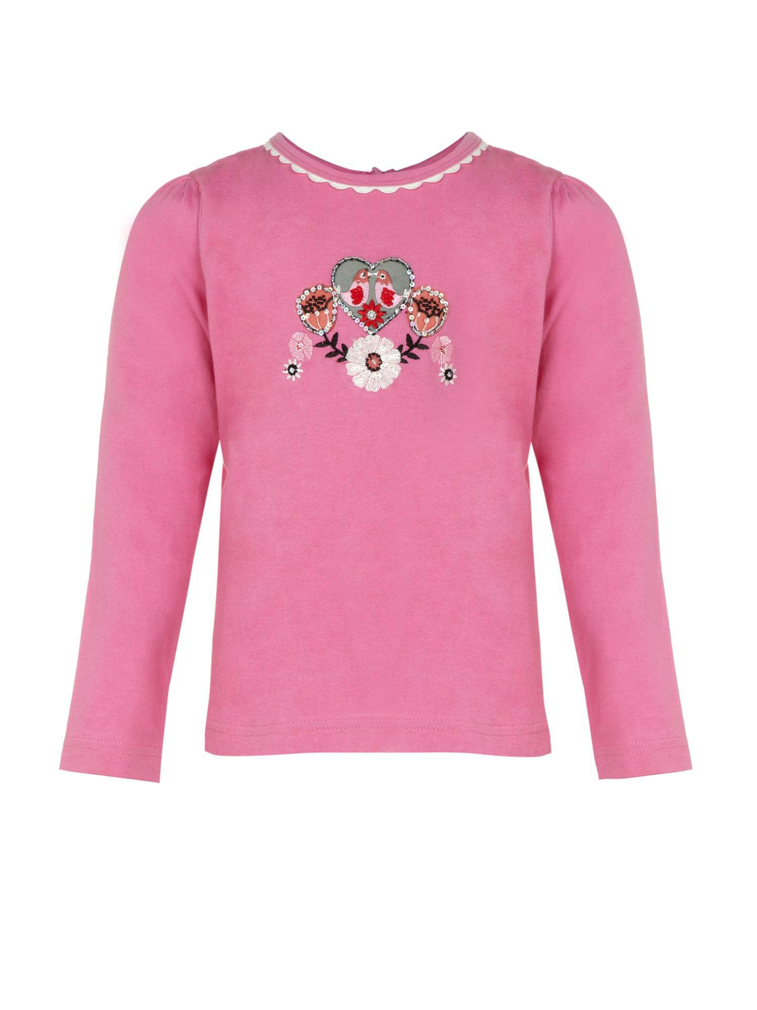 Girl`s daisy long sleeve t-shirt