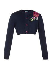 Girl`s embroidered rose shrug