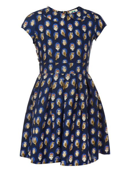 Yumi Girls Girl`s owl print dress