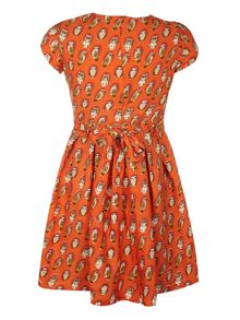 Girl`s owl print dress