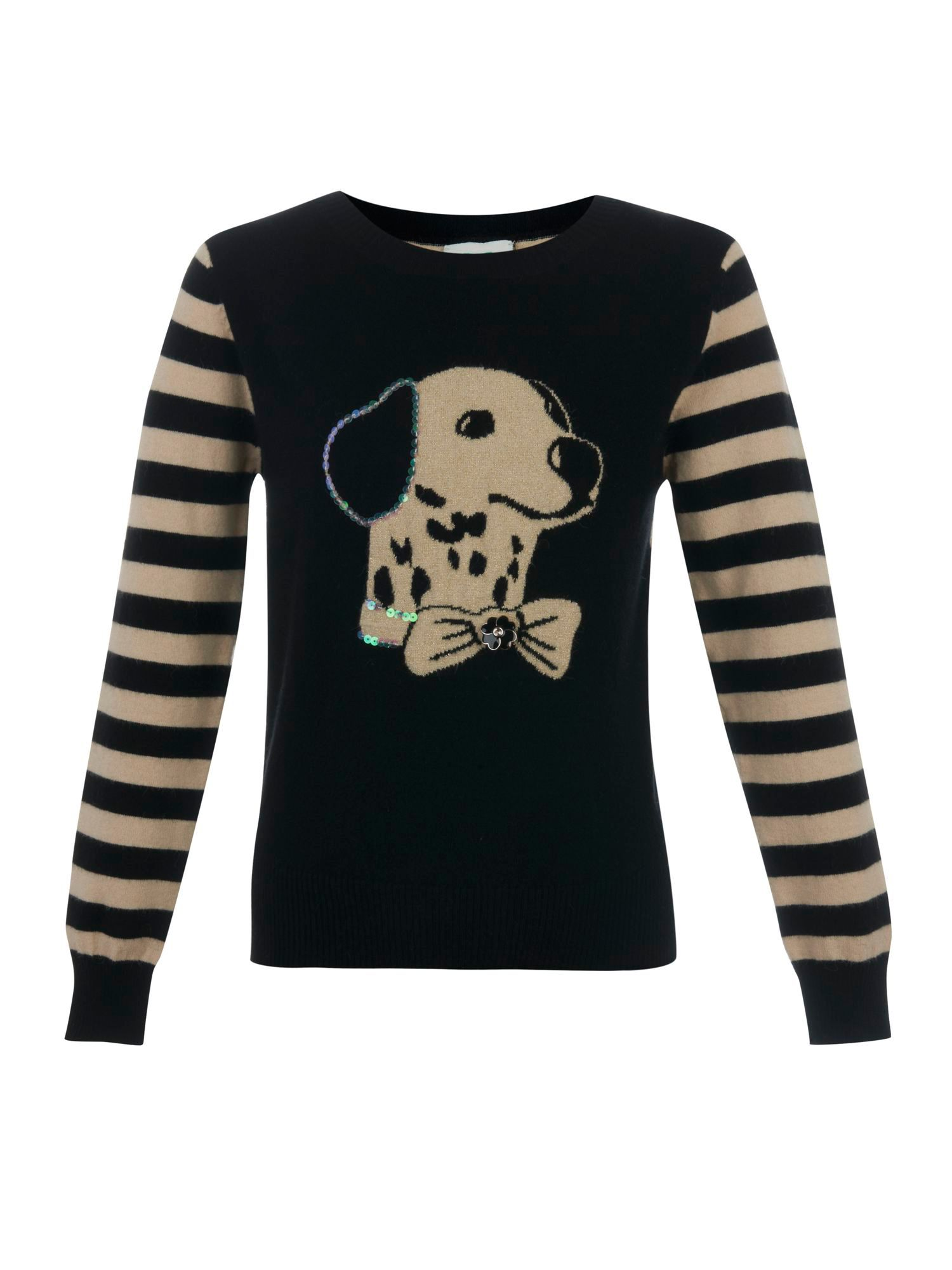 Girl`s dog print jumper