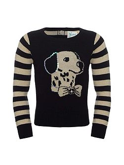 Sequin Dalmation Jumper