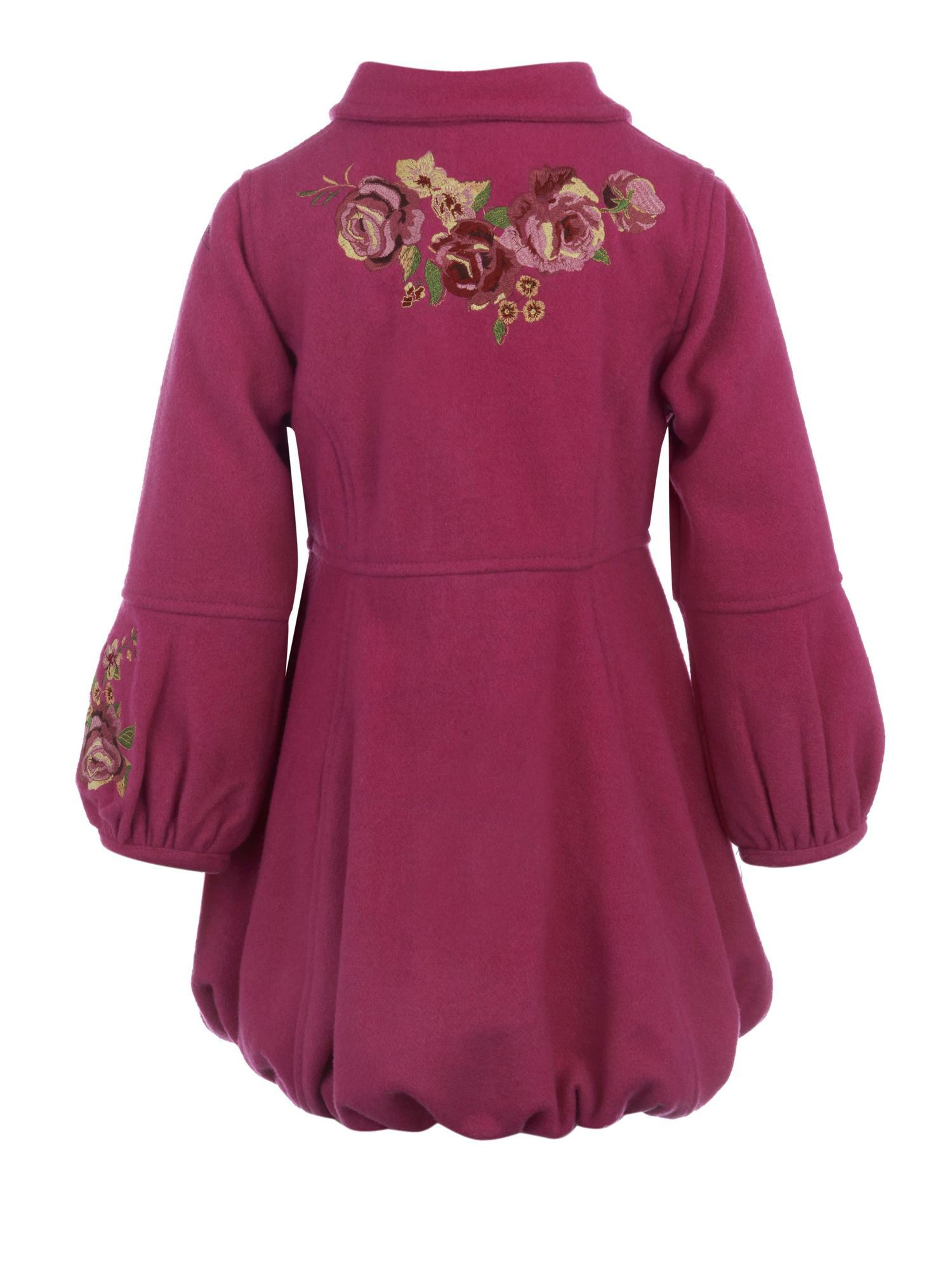 Girl`s embroidered rose coat