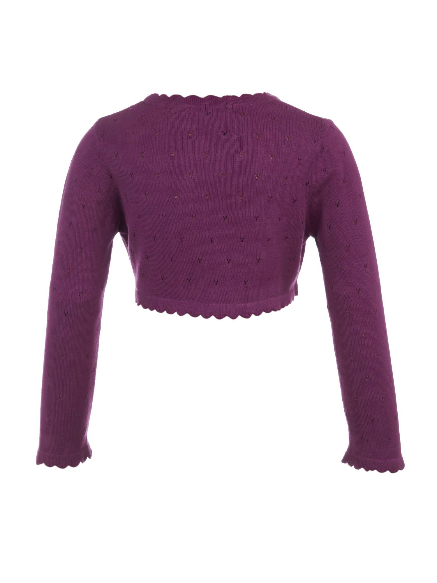 Girl`s rose knit shrug