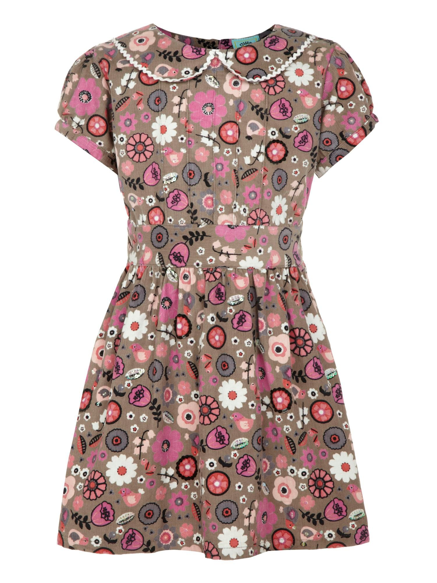 Girl`s flower print dress