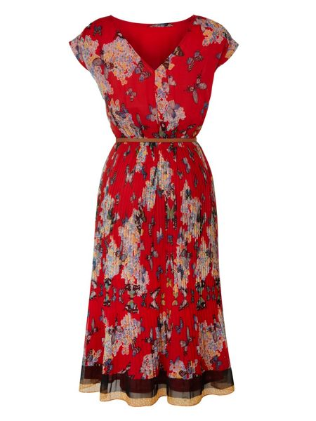 Uttam Boutique Flower and butterfly dress.