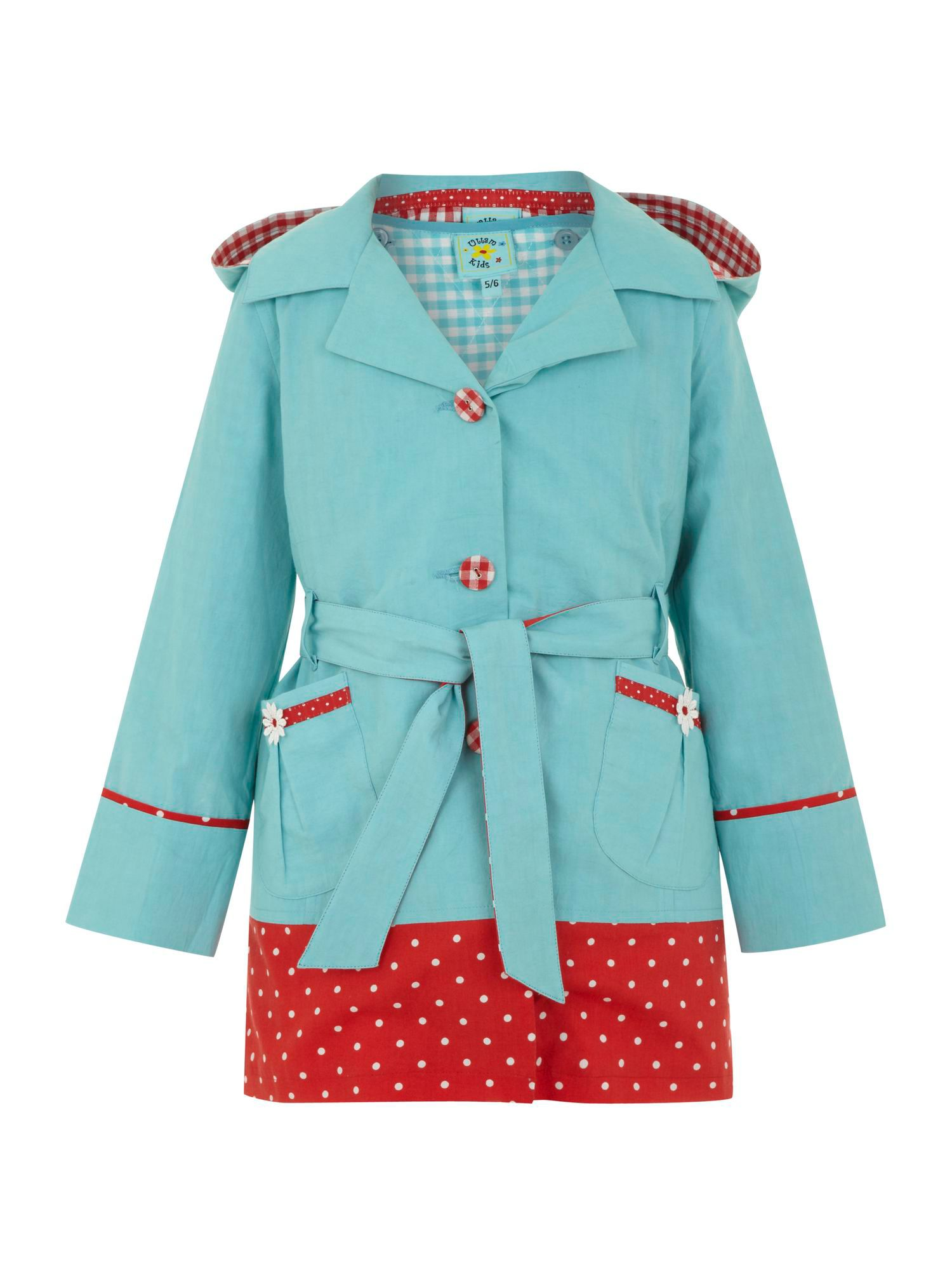 Girl`s daisy coat