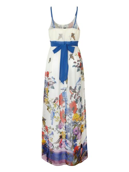 Uttam Boutique Flower and bird maxi dress.