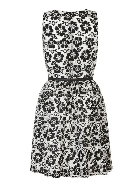 Yumi Flower lace fit and flare dress.