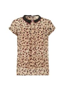 The floral leopard top